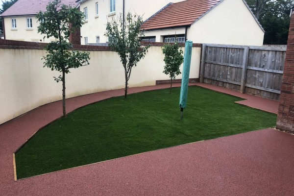 Artificial Grass and Resin Garden Project - Dawlish