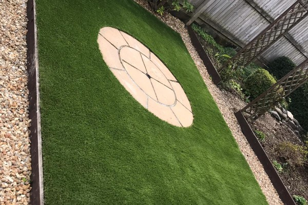 Artificial Grass and Patio Project - Plymouth