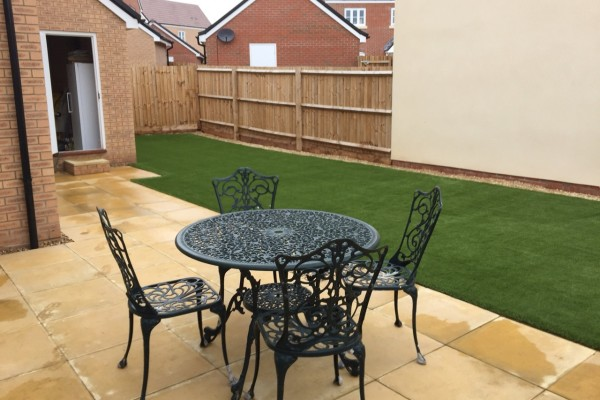 Artificial Grass Garden Project - Newton Abbot