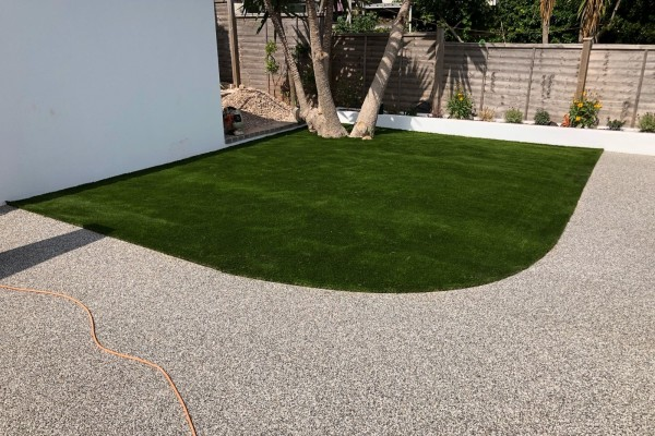 Resin Garden Patio and Artificial Grass Project - Brixham