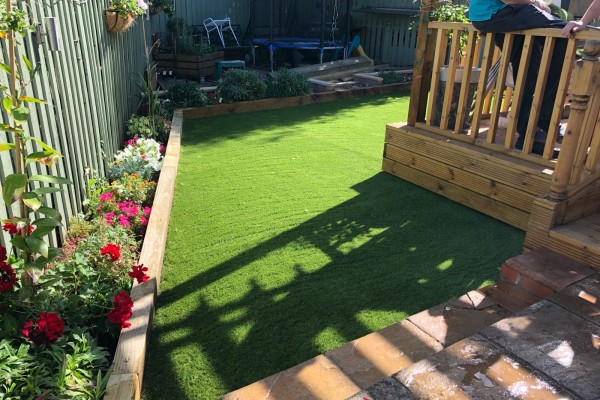 Decking and Artificial Grass Project - Devon