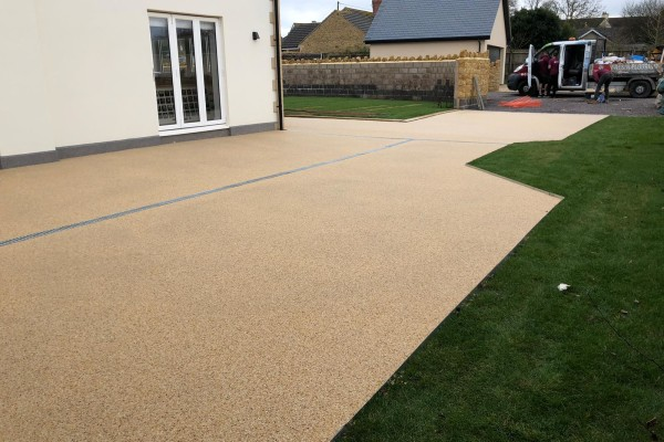 Resin Garden Patio and Artificial Grass Project - Teignmouth