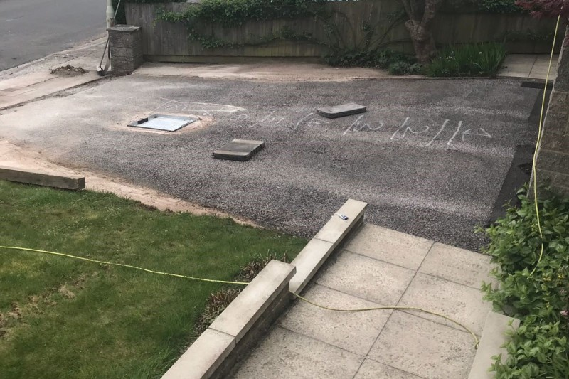 Resin Drive way Transformation in Newton Abbot