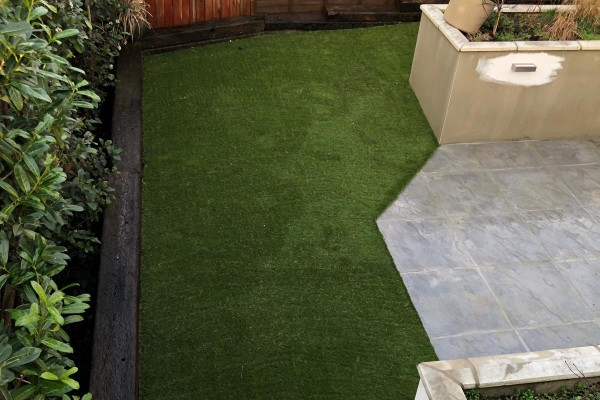 Artificial Grass, Patio and Garden Landscaping Project - Honiton