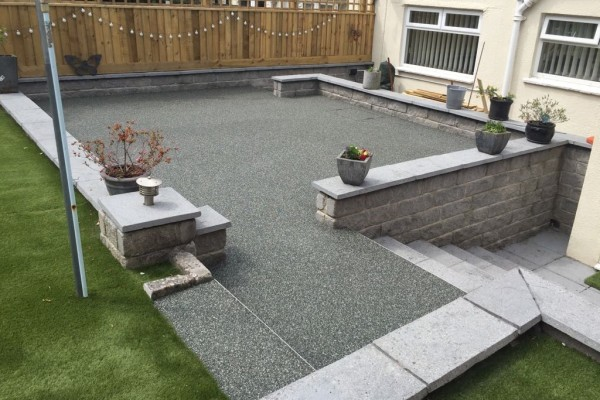 Resin Patio and Artificial Grass project - Newton Abbot