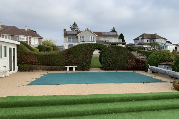 Artificial Grass and Resin Pool Surround Project - Torquay