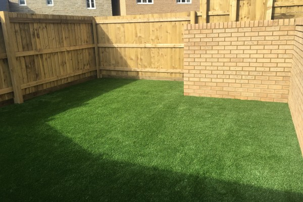 Artificial Grass Project and Timber Fencing - Bovey Tracey