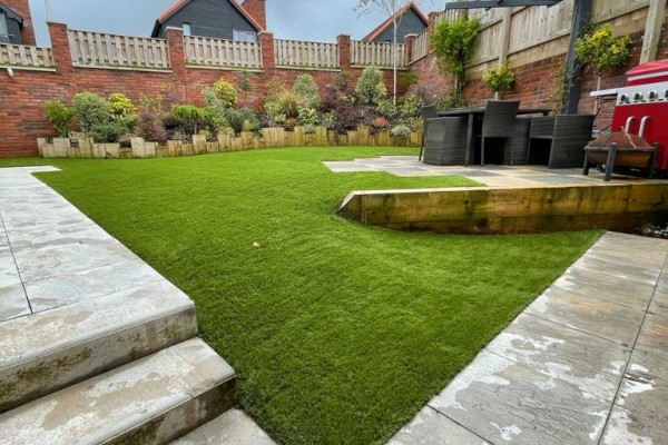 Artificial Grass and Landscaping Project - Newton Poppleford