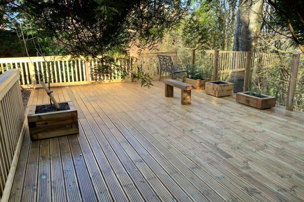 Timber Decking Project with Glass Balustrades - Plymouth
